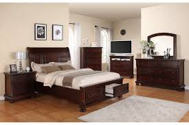 Pine Bedroom Furniture Sets Brown Lacquered Pine Wood Captains Bed Frame Which Furnished With