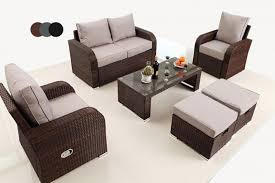 rattan recliner lounge set 3 colours