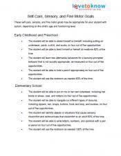 Counseling Treatment Plan Goals Treatment Goals For Autism Lovetoknow