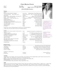 Sample Acting Resume For Beginners by Free Acting Resume Samples And Musical Theater Template Sample