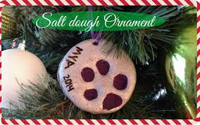 diy salt dough ornament youtube