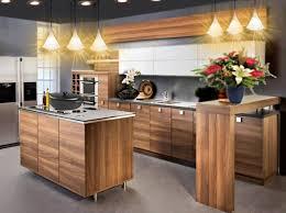cuisine bois gris moderne decoration cuisine retro