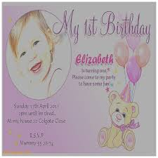 birthday cards fresh 1st birthday invitation card maker 1st