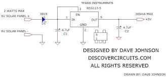 circuit solar 5 led garden light