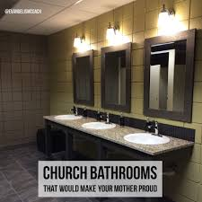 church bathrooms that would make your mother proud