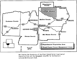 Craig Colorado Map by Us Endangered Species Act Subpart H Experimental Populations