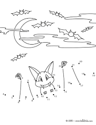 halloween bat dot to dot game coloring pages hellokids com