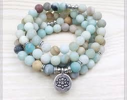 silver charm bead bracelet images Matte amazonite 108 mala beads bracelet or necklace high quality jpg