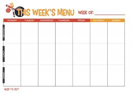 free printable weekly meal planner not quite susie homemaker