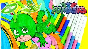 disney junior pj masks gekko coloring crayola color