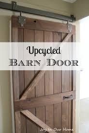Distressed Barn Door by Upcycled Barn Door Monthly Diy Challenge Joy In Our Home