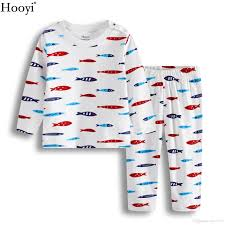 hooyi fish baby boys pajamas clothes set autumn sleeve