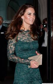 kate middleton nails the princess look in green lace dress