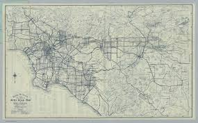 Los Angeles Maps by Auto Road Map Of Los Angeles And Vicinity David Rumsey