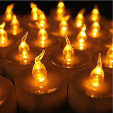 small tea light candles 24 pcs yellow mini led tea lights candle with timer glow electric