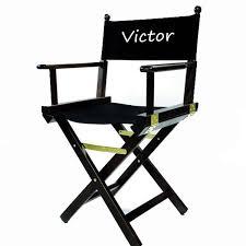 siege metteur en fauteuil metteur en scène professionnel en bois noir