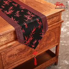 luxury damask table runner china knot patchwork luxury black damask table runners with tassels