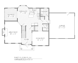 center hall colonial floor plans cool house plans