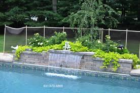 Long Island Patio by Sheer Descend Pool Water Feature Long Island Ny Deck And Patio