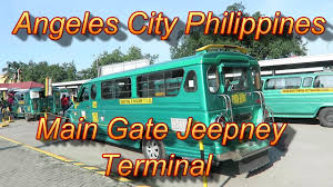 philippine jeepney inside angeles city philippines main gate jeepney terminal youtube