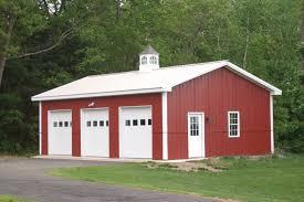 Pole Barn Design Ideas Nice Simple Design Of The Pole Barn Garage Kits With Loft That Has