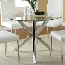 large glass top dining table incredible chrome glass dining table glass top dining table round
