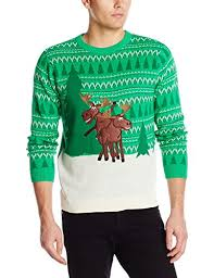 alex s moose sweater green combo