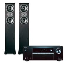 onkyo home theater system 5 1 onkyo txsr353 5 1 channel receiver w hdr u0026 polk tsi300 tower