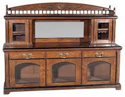 antique english 6ft solid pollard oak buffet sideboard server w