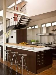 rustic kitchen island ideas brown glass mosaic backsplash kitchen