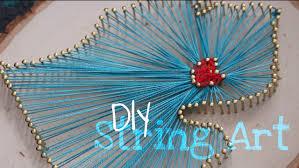 diy easy state outline string art tutorial youtube