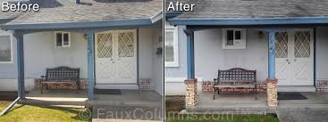 wrap around porch post