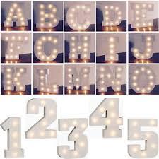 white light up letters a z wooden alphabet letter led light up white letters standing 0 9
