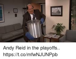 Andy Reid Meme - andy reid in the playoffs httpstcomfwnjunppb andy reid meme on