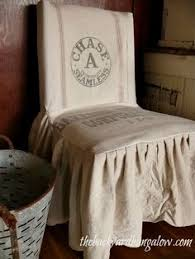 slipcovered parsons chairs casual linen parson chair slipcover think a embroidered monogram