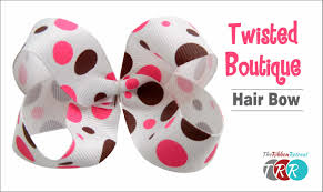 how to make hair bows how to make a twisted boutique hair bow theribbonretreat