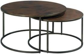 round nesting coffee table hammary furniture sanford round nesting coffee tables homemakers