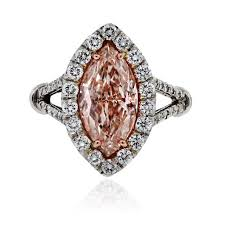 marquise diamond engagement ring platinum certified 3ct fancy light pink marquise