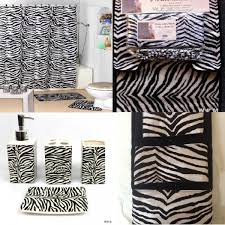 Cheetah Print Bathroom by 22pc Bath Accessories Set Black Zebra Animal Print Bathroom Rugs
