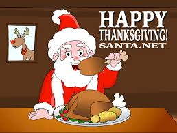 santa thanksgiving turkey santa claus