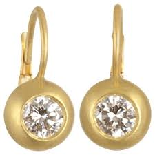 diamond back earrings diamond gold dome lever back earrings for sale at 1stdibs