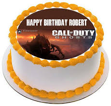 call of duty birthday cake call of duty ghosts edible birthday cake or cupcake topper
