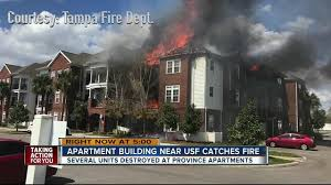 2 Bedroom Apartments Near Usf 3 Alarm Fire At Province Apartments Near Usf Caused By Discarded