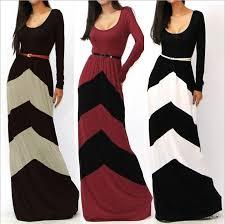 casual long sleeve maxi dress fashion dresses