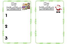 my wish list christmas wishlist templates freebie the
