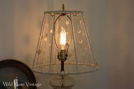 Lamp Shades Diy Wild Rose Vintage Vintage Button Lamp Shade Diy