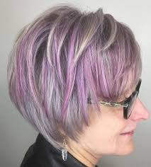 pink highlighted hair over 50 90 classy and simple short hairstyles for women over 50 purple