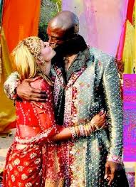 Indian Style - seal and klum renew three year wedding anniversary indian style