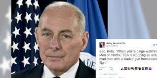 homeland security secretary tried to make a binge watching joke
