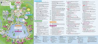 magic kingdom disney map updated epcot map